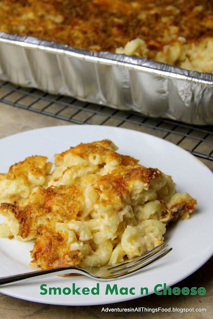 smoked mac & cheese on the Traeger!!!! Yummy......
