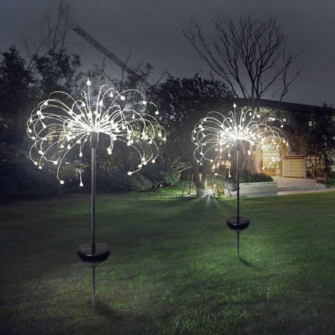 LED solar light eight function modes dandelion lawn lights / grass fireworks lamp /outdoor waterproof solar garden light Solar Lawn Lights, String Lights Outdoor, Decorative Solar Garden Lights, Solar String Lights, Luz Solar, Solar Lamp, Dandelion Light, Led Closet Light, Closet Lighting