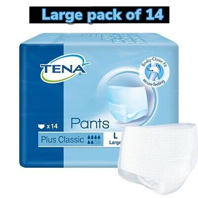 Details About Tena Pants Plus Classic Pack Of 10 Large Incontinence Slip Pants 782618 Tena Incontinence Pants