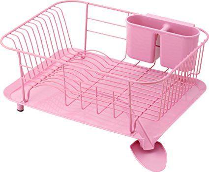 Dish Draining Rack Baby Light Pink