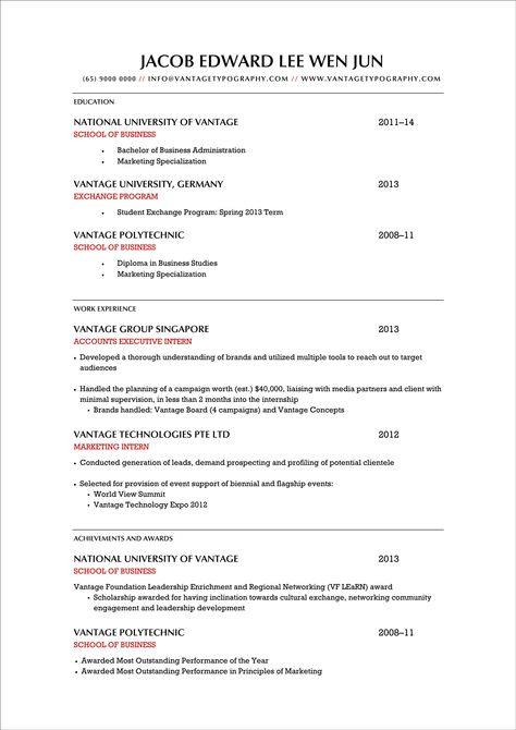 internship resume template Download Free Excellent CV   Resume - internship resume