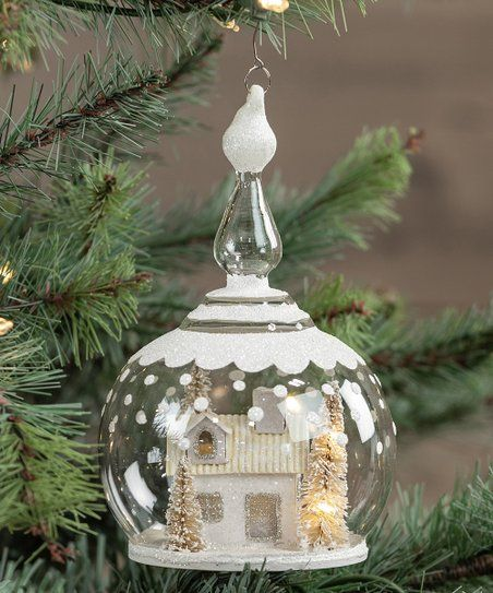 Ragon House Lighted White House In Globe Ornament Best Price And Reviews Zulily Globe Ornament Outdoor Christmas Decorations Glass Ornaments
