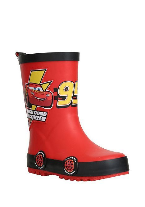 Disney Cars Boys Rubber Wellington Boots Wellies