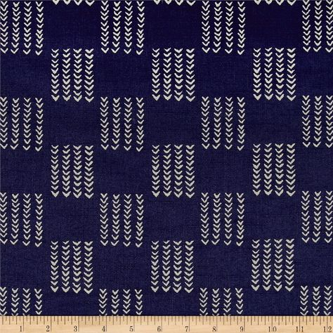 Designed by Whistler Studios for Windham, this lightweight 100% cotton yarn-dyed mud cloth shirting is perfect for button-down shirts, gathered skirts and dresses and even quilting. Colors include navy and light grey.
