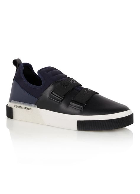 Kendall+kylie Women 20mm Gail Neoprene & Leather Sneakers | Male Shoe Art |  Pinterest | Leather sneakers, Kylie and Leather
