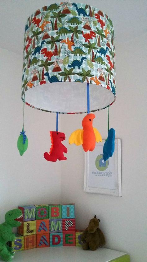 Dinosaur Baby Lampshade Ready Made Nursery Lighting