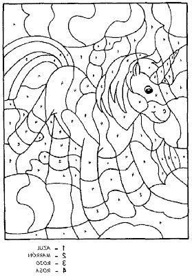 Coloriage Magique Licorne A Imprimer