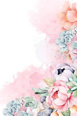 hand-painted,spring,flower,red,green leaf,bird,spring flower,pink