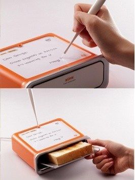 Toaster lets you write on your breakfast | Make: