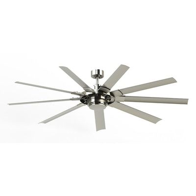 Fanimation Studio Collection Slinger V2 72 In Brushed Nickel Led Indoor Outdoor Ceiling Fan With Light And Remote 9 Blade Lowes Com Ceiling Fan With Light Ceiling Fan Fanimation Ceiling Fan 72 inch outdoor ceiling fan