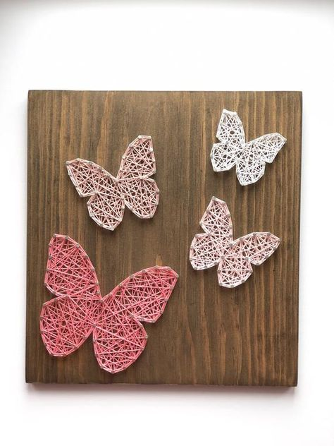 String Art, Butterfly String Art, Butterfly Decor, Kids Room Decor, Playroom Decor, Birthday Gift, Butterfly Gift, Mother's Day Gift