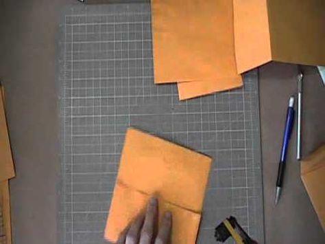 Scrapbook Tutorial - JAnnBDesigns Envelope Mini Album, Video 1 of 5
