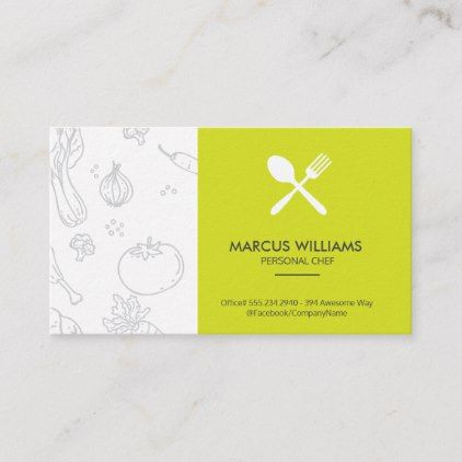 Restaurant Utensils Executive Chef Business Card Business Template Gifts Unique Customize Diy Personaliz Restaurant Card Restaurant Utensils Executive Chef
