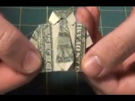 Improved Dollar Origami Shirt - Make a Dollar Bill Shirt With Necktie and Collar Tutorial - YouTube