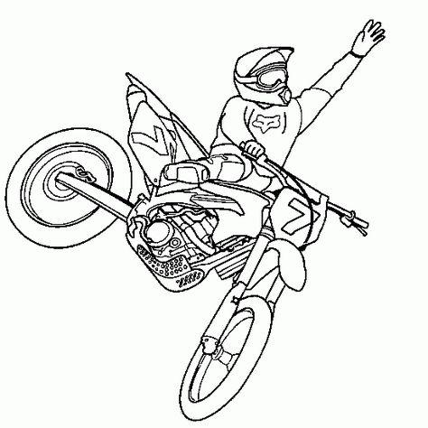 Coloriage Gratuit Moto Cross.Dibujo De Colorear Motocross Freestyle Salto Xgames