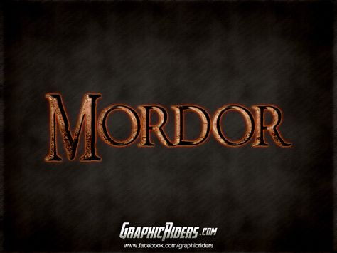 Fantasy style – Mordor (free photoshop layer style, text effect, free psd file)  #graphicriders