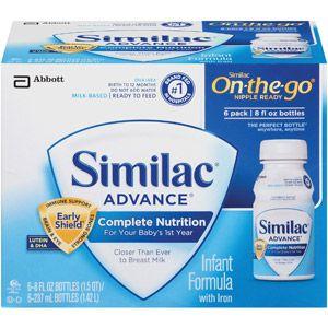 Similac Advance Infant Formula Ready To Feed 8oz 6 Count Baby Formula Similac Baby Food Formula