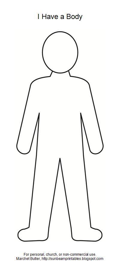 FREE Printable Body Outline Template | teaching: free printables ...