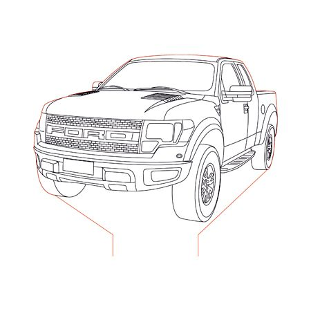 Ford Raptor 3d Illusion Lamp Plan Vector File