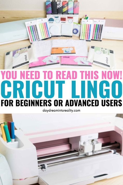 Cricut Lingo For Beginners or Advanced users