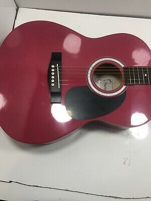 Martin Smith 6 Acoustic Pink Guitar With Bag Guitar Martin Guitar Acoustic