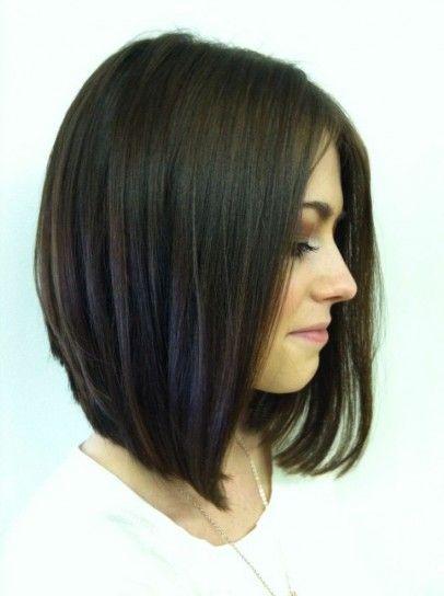 Idee tagli capelli long bob Primavera-Estate 2014 - Capelli lisci a caschetto lungo