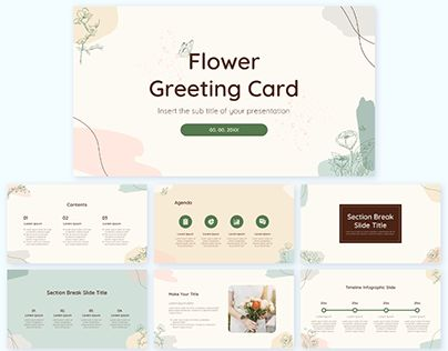 Flower Free PowerPoint Template Google Slides Theme