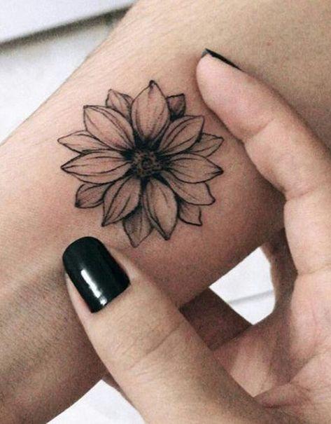 Black Sunflower Wrist Tattoo Ideas for Women -  Ideas de tatuaje de flores para mujeres - www.MyBodiArt.com