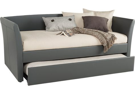 Brianne Gray Daybed With Trundle Daybed With Trundle