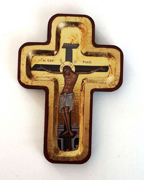 """/""""Russian Orthodox Christ crucifix silver cross blessed St George relics 4.1 gr"""