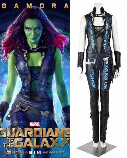 Guardians of the Galaxy Vol 2 Gamora Cosplay Costume Halloween Fancy Dress Suit