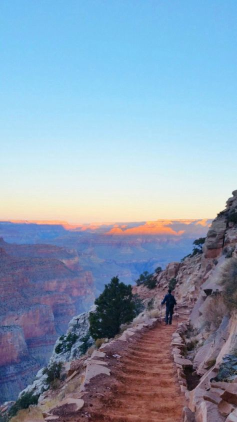 Sunrise hike on one of the best Grand Canyon National Park hiking trails