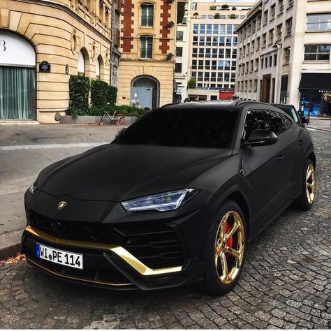 beast lamborghini urus black gold noir or cars
