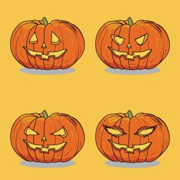 Cute Pumkins Halloween Vector Design Autumn Background Banner Png And Vector With Transparent Background For Free Download Halloween Vector Vector Design Maple Leaf Drawing