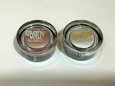 Advertisement Lot Of 2 Maybelline Color Tattoo Metal Eyeshadow 55 05 Linked In Pink In 2020 With Images Maybelline Color Tattoo Color Tattoo Eyeshadow