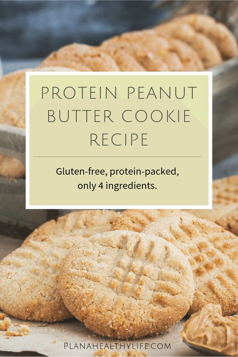 These gluten-free protein powder peanut butter cookie have all of the great taste of a traditional peanut butter cookie, but none of the guilt. Takes just a few minutes to mix together a batch of warm, yummy cookies using just 4 ingredients. Protein Cookie Recipe, Peanut Butter Protein Cookies, Gluten Free Cookie Recipes, Peanut Butter Cookie Recipe, Healthy Cookies, Yummy Cookies, Powdered Peanut Butter, Powder Peanut Butter Recipes, Pb2 Cookies