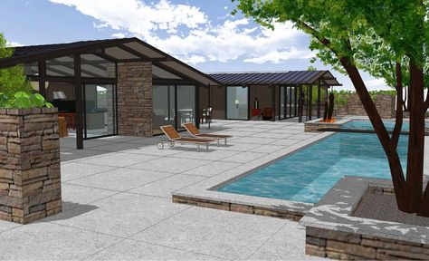 Ranch Style House Plan 3 Beds 3 Baths 2787 Sq Ft Plan 544 1 Modern Style House Plans