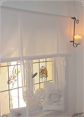 Roman Blinds White 90 110 130 150 Wide Country House Shabby Chic Vintage Retro In 2020 With Images Retro Curtains Curtains With Blinds Country Style Curtains