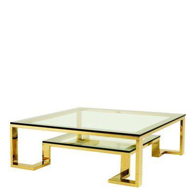 Eichholtz Huntington Coffee Table Color Gold Gold Coffee Table Square Glass Coffee Table