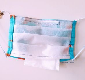 Diy Pleated Cloth Face Mask With Pocket Filter In 2020 Sewing