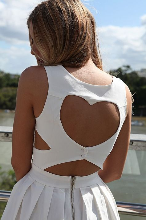 HEART CUT OUT DRESS-adorable!