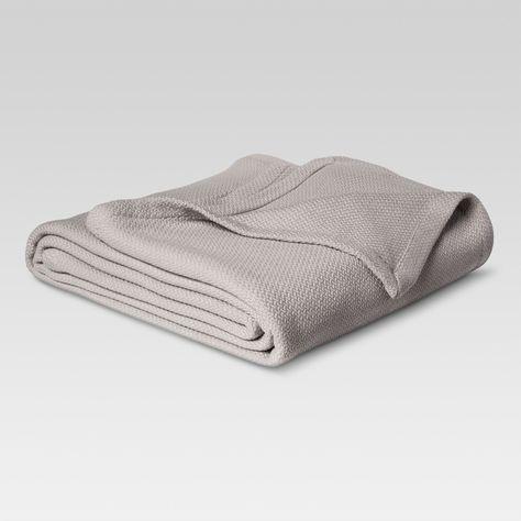 King Solid Bettdecke Aus 100 Baumwolle Grau Schwelle King