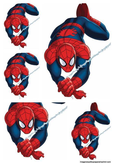 hombre araña con su tela de araña