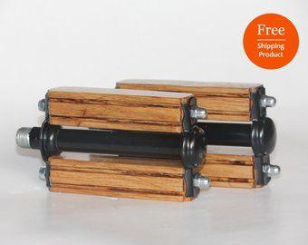 Kostenloser Versand Holzerne Fahrradpedale Holz Pedale