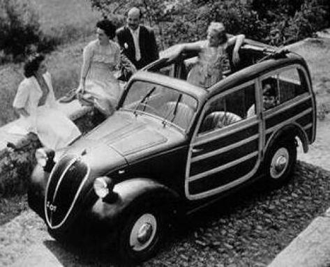 1948 Fiat 500b Belvedere #stationwagon #station #wagon #funny