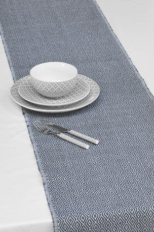 Grey Geo Fabric Table Runner Fabric Placemats Jar Storage Oven