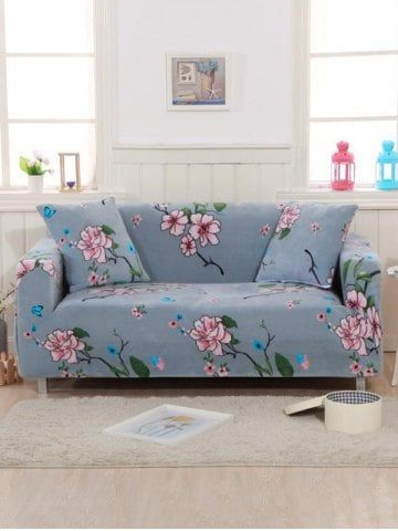 Peachy Flower Print Couch Cover In 2019 Couch Covers Washable Squirreltailoven Fun Painted Chair Ideas Images Squirreltailovenorg