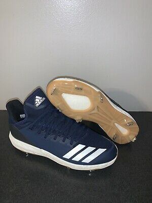 New Adidas Boost Icon Bounce Metal Baseball Cleats Navy White Men Size 10 Cg5151 In 2020 Adidas Boost Baseball Cleats Metal Baseball Cleats