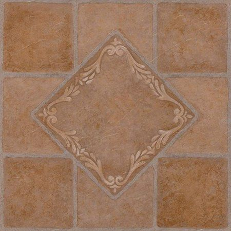 Achim Nexus Self Adhesive Vinyl Floor Tile 20 Tiles 20 Sq Ft 12 X 12 South West Ceramic Walmart Com Vinyl Flooring Vinyl Tile Adhesive Vinyl