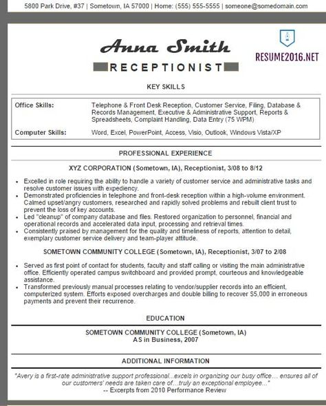 Excellent Resume Sample Sample Resumes Sample Resumes